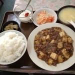 上海厨房 玲玲 - 牛スジ麻婆豆腐定食(201303)