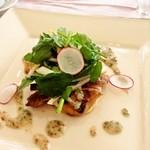 18982235 - <メイン>豚ロース肉のグリル                       粒マスタードとケッパーのヴィネグレット