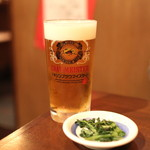 讃岐うどん 蔵之介 - お通しでビールを (2013/05)