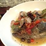 Ms.Plate - お魚気分のときは、アクアパッツァを作ってもらいました。汁までぜんぶすすりたい〜