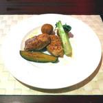 18986916 - アントューカPetit Course肉鳥胸肉と新じゃがのディヤブル風945円