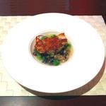 18986920 - アントューカアントューカPetit Course魚白身魚のパイアソン青豆とワイルドライスのガビュール1,260円Petit Course