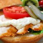 マルミキフーズお届けビュッフェ - チキンバーガー フライドポテト・サラダ付 1,200円
