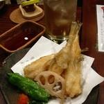 囲炉裏亭 味都 - フグの天ぷら