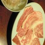 焼肉天下 - 焼きシャブ和牛カルビ(期間限定)