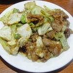 ちゅうかやさん - 料理写真:豚肉とキャベツの味噌炒め