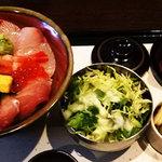 旬庵 - 海鮮丼定食(1,000円)