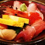 旬庵 - 海鮮丼定食(1,000円)アップ