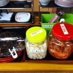 ラーメンセンター本陣 - キムチ&らっきょ&梅干し&お惣菜