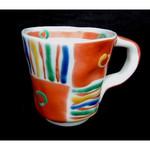 九谷美陶園 - 料理写真:九谷焼 手描き メキシカン柄のカップ 店内で¥4200でお買い求めできます