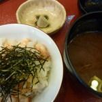 18997849 - 天ばらご飯・あさりのお味噌汁