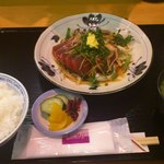 あらき - 鰹たたき定食