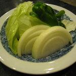 肉料理 阿蘇 - サービスの焼き野菜