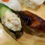 権太呂すし - 涼夏・味わいまつり(ホッケ貝のサラダ軍カン、炙りうなぎ)