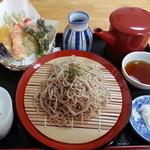 玄武洞茶屋 - 天ざる1350円