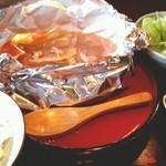 球磨川 - 野菜たっぷり ぴりピリ辛ホイル鍋 2013.10