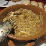 19004970 - フォアグラとマッシュルームのオーブン焼きを混ぜた後