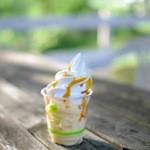 ミルキーハウス - 料理写真:プリン+ソフトクリーム(500円)
