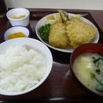 たまち - アジフライ定食750円