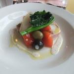 Boire un coup - 前菜 豚すね肉のテリーヌと魚系のテリーヌと。