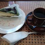 紅緋苑 - 料理写真:抹茶ケーキ(ホットコーヒー付)♪