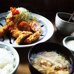 櫻守 - レディースセットはえびふらい、えびかつ、ひれかつ