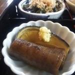 19010288 - 【八寸】なすとごぼうの炊き合わせ・水菜のおひたし