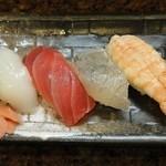 濱鮓 - 寿司4貫 ※2013年5月 伊丹まちなかバル