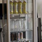 黄金彩 - 缶ビール。ペットボトルのお茶