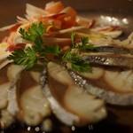 ディキシールー - 炙り鯖のマリネ、ゴルゴンゾーラソース