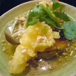 19024015 - 「日替わり御膳」揚げ出し豆腐と海老天のあんかけ