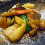 食楽厨房 あんばい - 「日替わり御膳」鶏肉と野菜の炒めもの