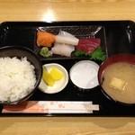 まう - 刺身定食(500円)