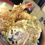 天ぷら 豊野 - 海鮮丼(海老・キス・穴子・野菜4種)