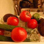 傘 - 新鮮な野菜たちはどんな料理になっても、おいしいです。