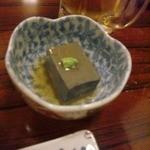 19030299 - お通しのゴマ豆腐。