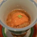 割烹 なり田 - 料理写真:毛蟹と雲丹のジュレ寄せ