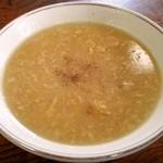 居酒屋 江戸前 - ハンバーガーステーキのスープ