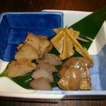 鶏鬨 - 鶏の味噌漬け盛り合わせ