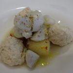 ラ・クィント - ポルペッティーネと焼きリゾット 里芋のソース添え