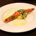 フォルトゥーナ - 【ディナー】パンツァネーラと車海老のサラダ
