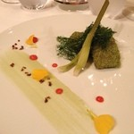 レストラン マノワ - 和歌山県産鰆のマリネ フヌイユの衣をきせて
