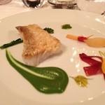 レストラン マノワ - アマダイにクレソンソース