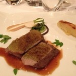 レストラン マノワ - 十勝産牛もも肉 花山椒とともに