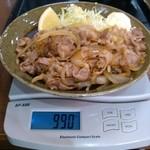 Kashiwaya - 豚肉生姜焼:計量図 by ももち