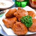 タージ ・ベンガル - チキンパコラ   チキンのインド天ぷら スパイスで味付けされたチキンがはいっているよ
