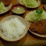 とんかつ 大幸 - ロースカツ定食(1,150円)