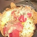 京都 鉄板 たちばな - トマトのダブルチーズ焼き