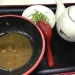 麺道服部 - スープ割り