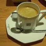壁の穴 - セットのホットコーヒー